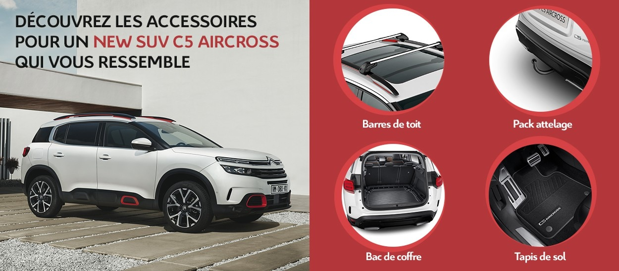 affordable price new appearance first look Accessoires New SUV C5 Aircross : barres de toit, jantes ...